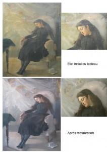 Restauration d'une peinture ancienne